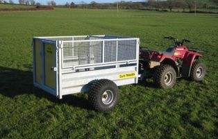 CLH 7x49 Mesh Drop Sided Trailer