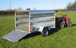 CLH Solid Side Livestock ATV Trailer