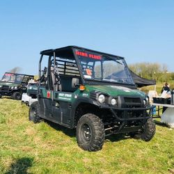 Our Polaris Ranger on site